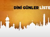 2014 Yılı Dini Günler Listesi